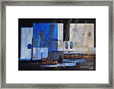 Dock 35 Framed Print by Sallie-Anne Swift