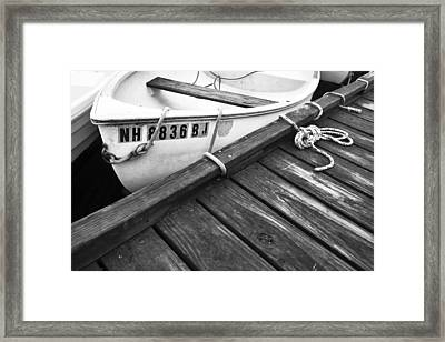Dock And Ropes Framed Print by Eric Gendron
