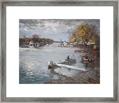 Dock At The Bay North Tonawanda Framed Print by Ylli Haruni