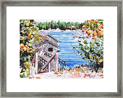Harborview Drive View Framed Print