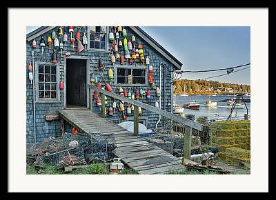 Lobster Traps Framed Prints