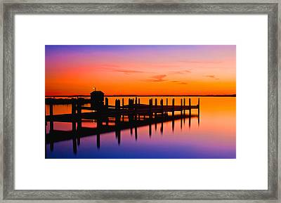 Dock Of The Bay Framed Print