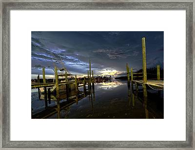 Dock Of The Bay Framed Print by Bob Jackson