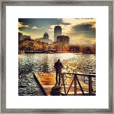 Dock Of The Bay #dock #bay #charles Framed Print