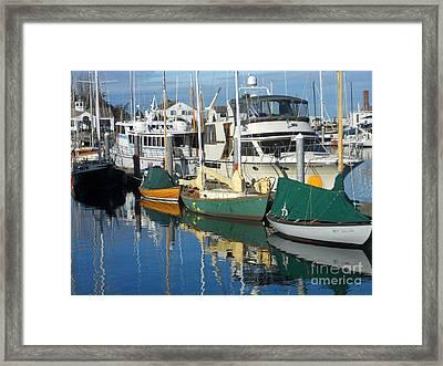 Dock Of The Bay Framed Print by Lauren Leigh Hunter Fine Art Photography