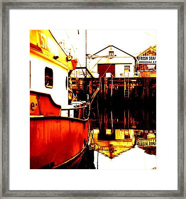 Dock Of The Bay Framed Print by Mamie Gunning