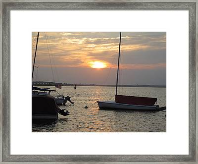 Dock Of The Bay Framed Print by Sandra Spincola