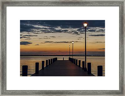 Dock Of The Bay Seaside New Jersey Framed Print