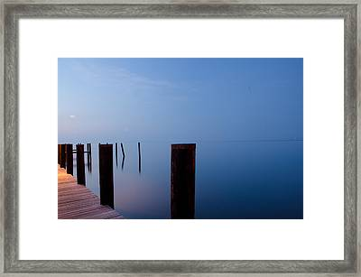 Framed Print featuring the photograph Dock Of The Morning by Gary Wightman