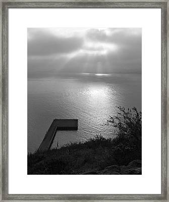 Framed Print featuring the photograph Dock On San Francisco Bay by Scott Rackers