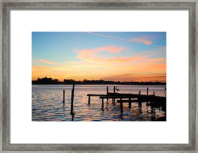 Dock On The Bay Framed Print by Margie Amberge
