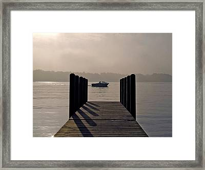 Dock Shadows Framed Print