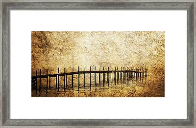 Dock Framed Print by Skip Nall