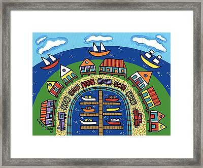 Dock Street-cedar Key Framed Print