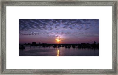 Dock Sunset Framed Print