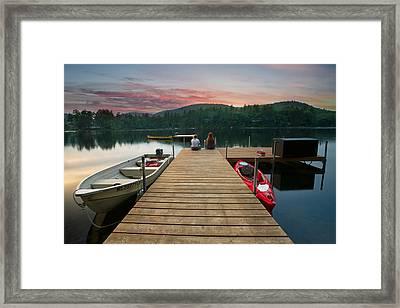 Dock Talk Between Friends Framed Print by Darylann Leonard Photography