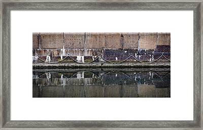 Dock Wall Framed Print by Mark Rogan