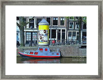 Framed Print featuring the photograph Docked In Amsterdam by Allen Beatty