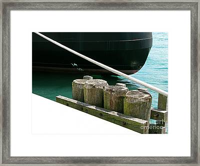 Docked Framed Print by Ann Horn
