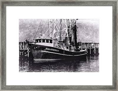 Docked Back Bay Framed Print by Barry Jones