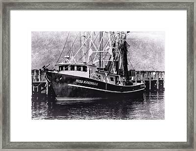 Docked Back Bay Framed Print by Barry Jones