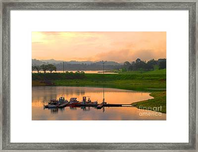 Docked Boats Framed Print