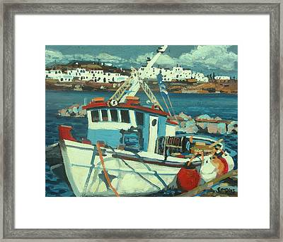 Docked Framed Print by Brian Simons