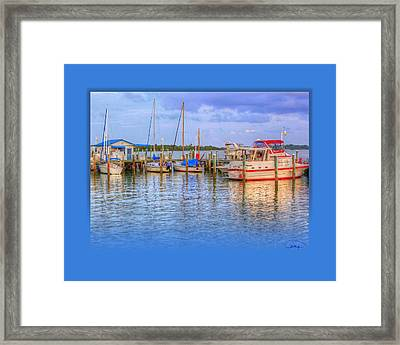 Docked For The Day Framed Print by Tammy Thompson