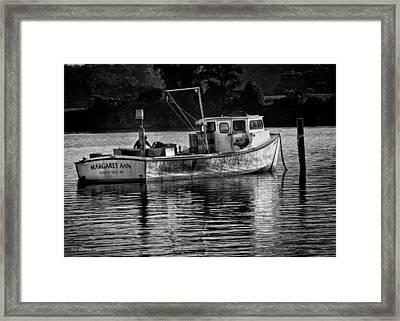 Docked For The Night Framed Print by Glenn Thompson