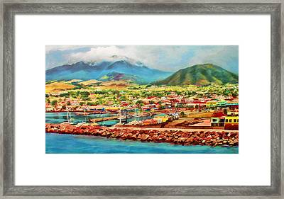 Docked In St. Kitts Framed Print