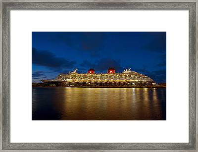 Docked In The Bahamas  C6j5497 Framed Print