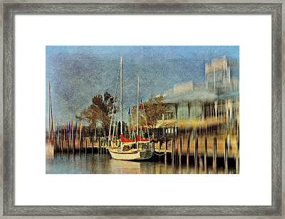 Docked Framed Print by Kathy Jennings
