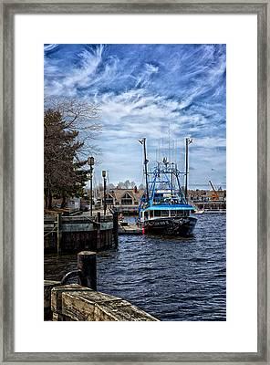 Docked Framed Print