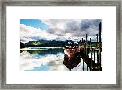 Framed Print featuring the painting Docked by Wayne Pascall