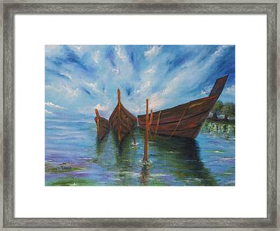 Docking Framed Print by Music of the Heart
