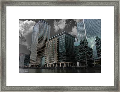 Docklands London Framed Print by Martin Newman