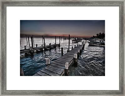 Docks At Ballyhoo Framed Print