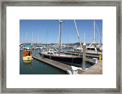 Docks At Sausalito California 5d22688 Framed Print by Wingsdomain Art and Photography