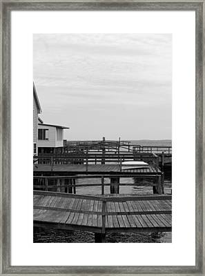 Docks Framed Print by Becca Brann