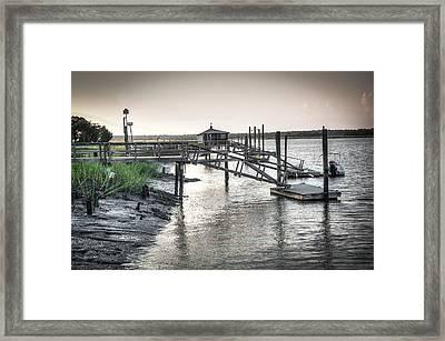 Docks Of The Bull River Framed Print by Scott Hansen