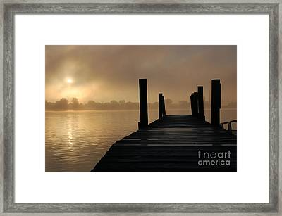 Dockside And A Good Morning Framed Print