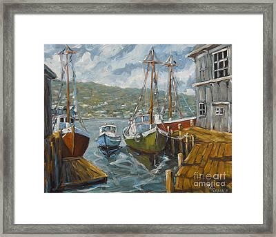 Dockside Boats By Prankearts Framed Print by Richard T Pranke