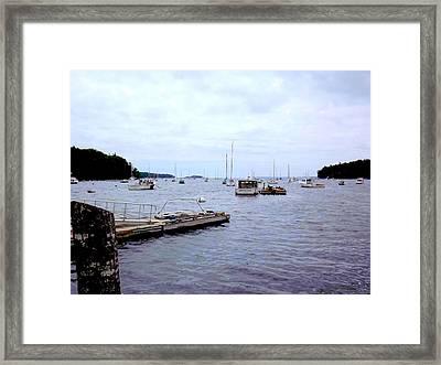 Dockside Framed Print by Dancingfire Brenda Morrell