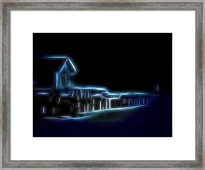 Dockside Moonlight Framed Print by William Horden