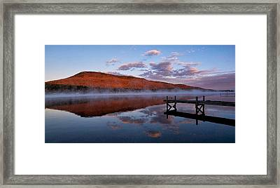 Dockside Morning Framed Print