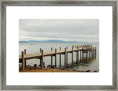 Framed Print featuring the photograph Dockside by Tamyra Crossley