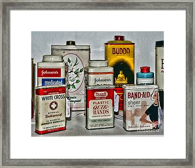 Doctor - Adhesive Bandages - Band Aid Framed Print
