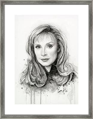 Doctor Beverly Crsuher Framed Print by Olga Shvartsur