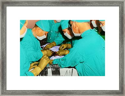 Doctor - Concentration Required Framed Print by Mike Savad