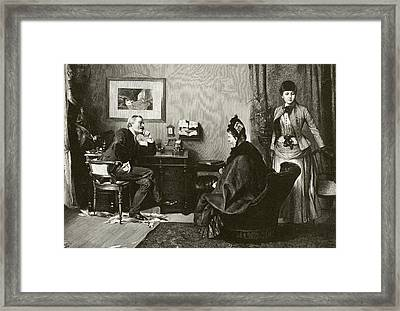 Doctor Consultation Framed Print by National Library Of Medicine
